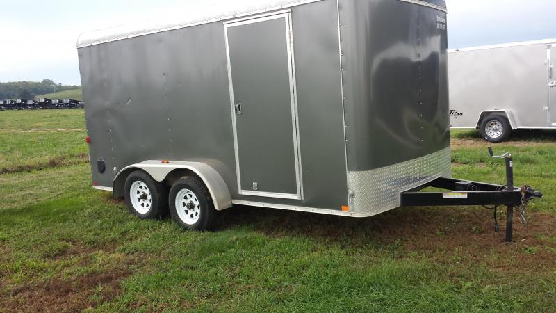 2014 Sure-Trac 7X14 PLUS 6 INCHES HEIGHT BARN DOOR Enclosed Cargo Trailer