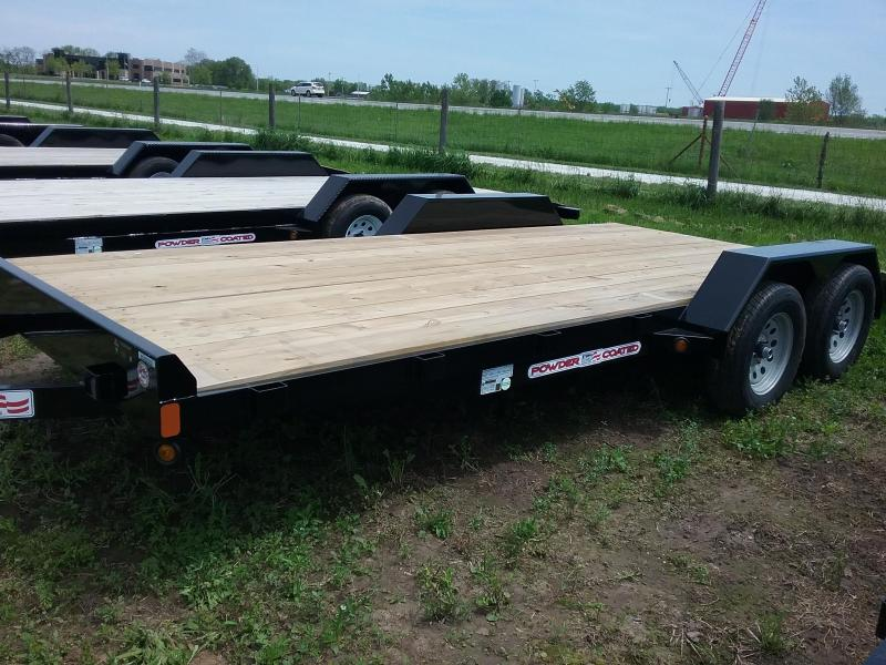 """82""""x18' Liberty 7K Car Hauler with 2' Dovetail and 5' Slide in Ramps"""