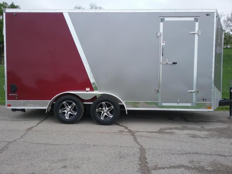 "7x16 (+12"" Additional Height) Stealth Titan Blackhawk Motorcycle Trailer"