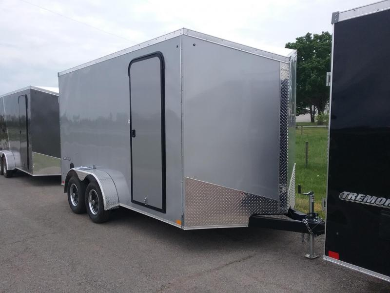 7X14 Plus 12 Inches Impact Tremor Enclosed Cargo Trailer