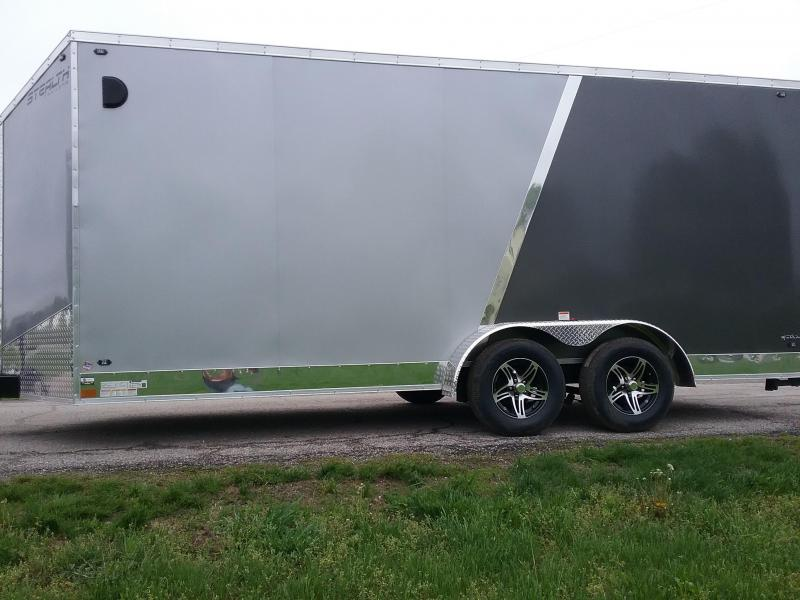 "7x18 (+12"" Additional Height) Stealth Titan Motorcycle Trailer"