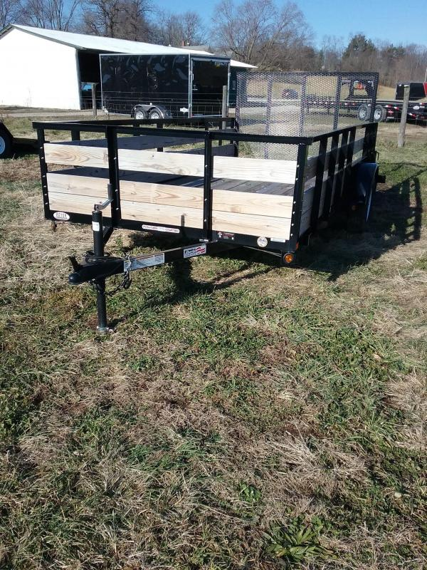2019 Liberty 78x14 3 Board Side Utility Trailer