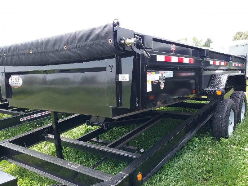"PJ  Dump Trailer with Tarp 83""x16'"