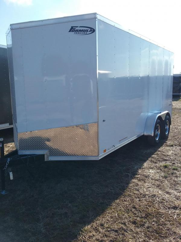 "2019 Formula Conquest 7x16 (+12"" Additional Height) Enclosed Cargo Trailer"