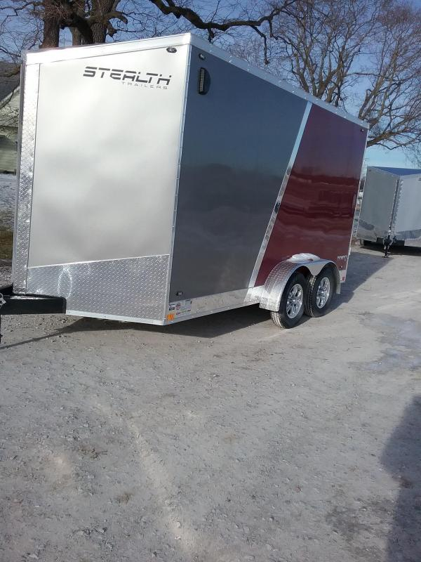 "7x14 (+12"" Additional Height) Stealth Titan Enclosed Cargo Trailer *HAIL DAMAGED-CALL FOR DISCOUNT PRICING*"