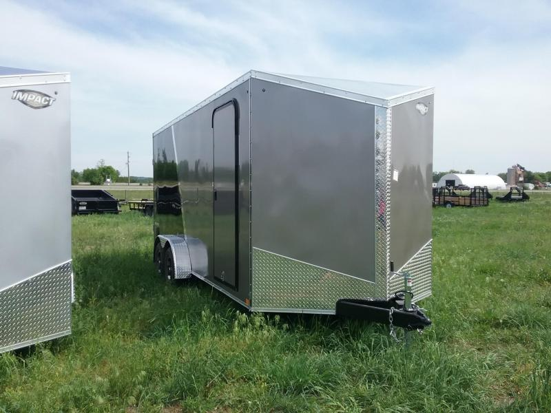 7X18 Plus 12 Inches Impact Shockwave Enclosed Cargo Trailer