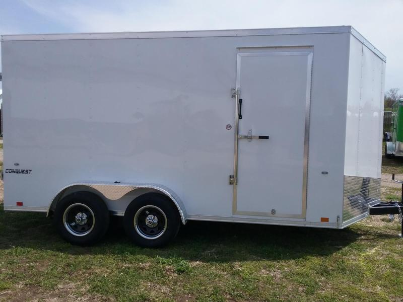"7X14 (+12"" Additional Height) Conquest Enclosed Cargo Trailer"