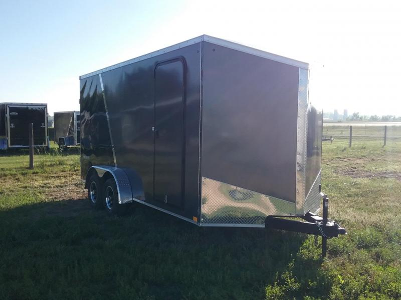 7X16 Plus 12 Inches Impact Tremor Enclosed Cargo Trailer