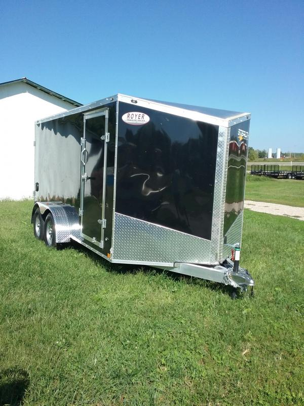 7x14 Stealth Titan Enclosed Cargo Trailer with Aluminum Frame Upgrade and Rear Barn Doors