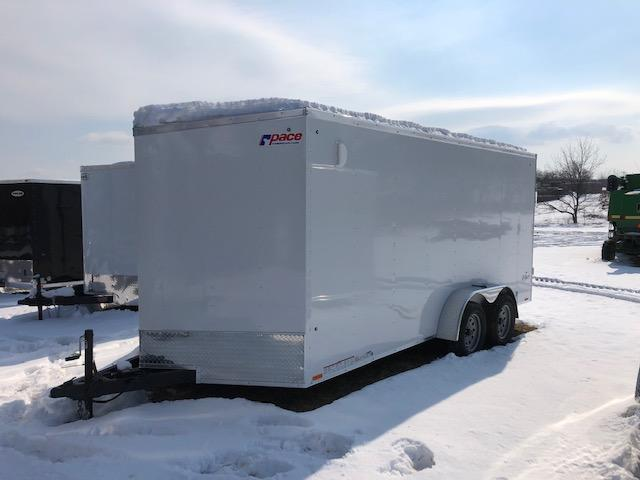 2020 Pace American OB7X16TE2DLX Enclosed Cargo Trailer
