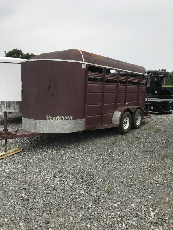 2007 Ponderosa Trailers 16x6 BP Stock Livestock Trailer