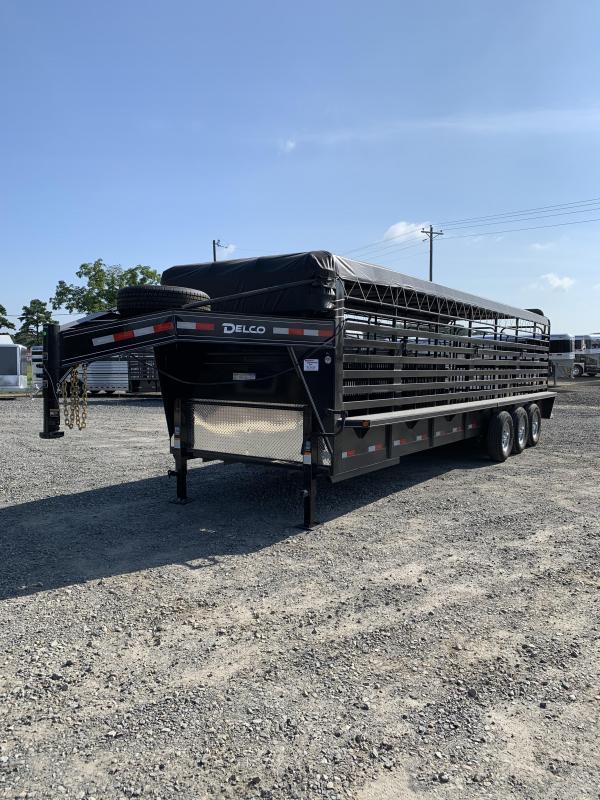 2020 Delco Trailers 28x6.8 Livestock Trailer