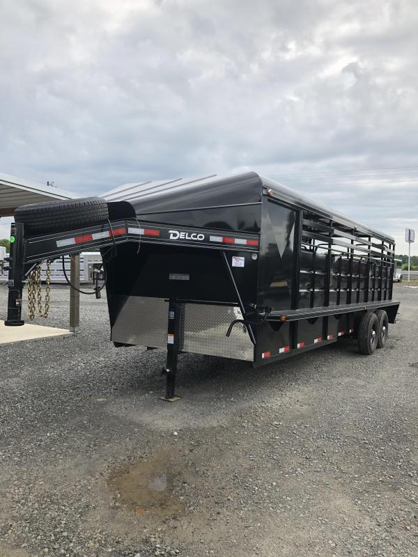 2019 Delco Trailers 24x6.8 Stock Livestock Trailer with 4' Tack