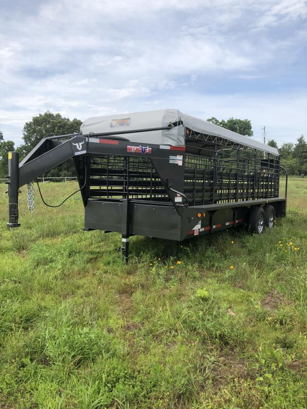 2019 Neckover Trailers 20x6.8 Stock Livestock Trailer