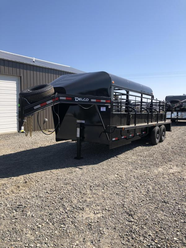 2019 Delco Trailers 20x6.8 Premium Catch Livestock Trailer