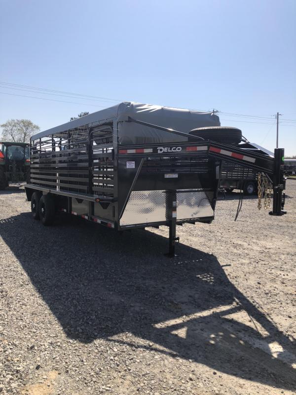 2019 Delco Trailers 20x6.8 Stock Livestock Trailer