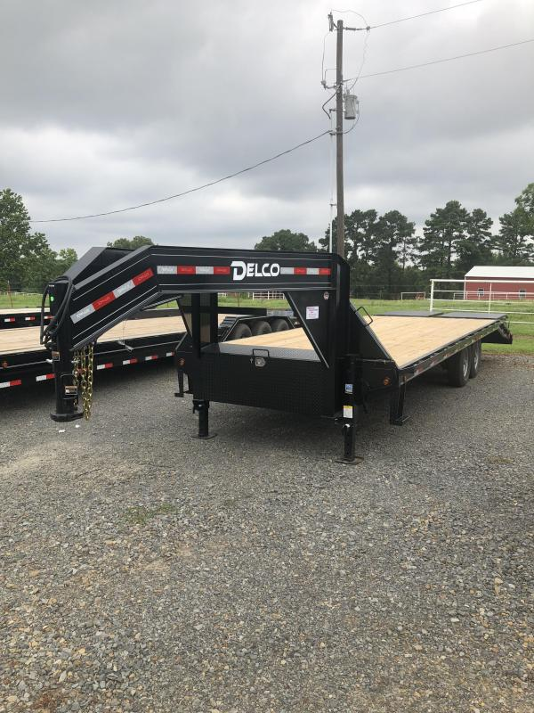 2019 Delco Trailers 20ft plus 5ft Flatbed Trailer