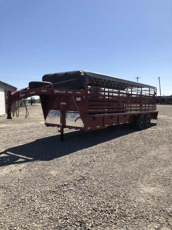 2019 Delco Trailers 24x6.8 Livestock Trailer