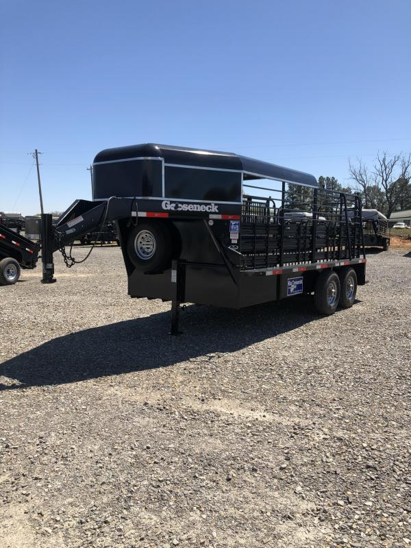 2016 Gooseneck 16x6.8 Catch Stock Trailer