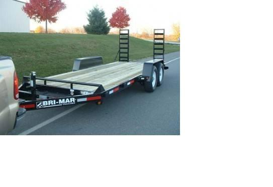 2015 Bri-Mar EH18-15 Equipment Skid Steer Trailer