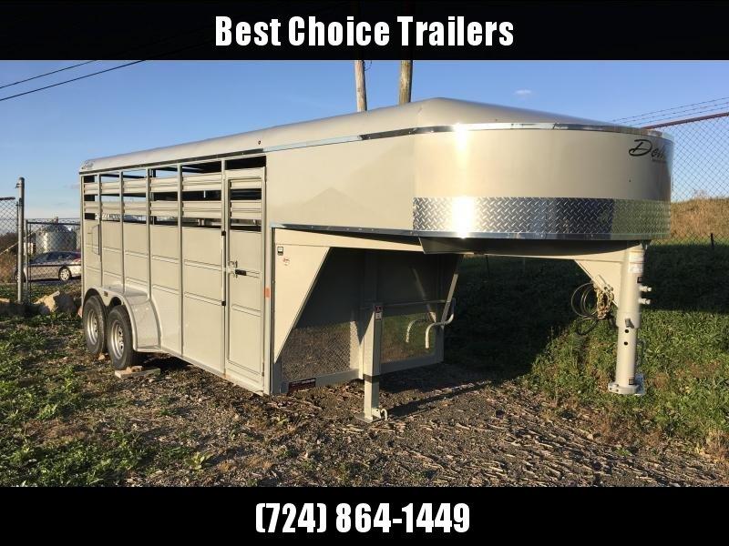 2018 Delta Gooseneck 500 ES 16' Livestock Trailer 7000# GVW * CLEARANCE