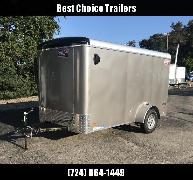 "2019 American Hauler 6x12' Enclosed Cargo Trailer 2990# GVW AR612SA * BLACK * RAMP DOOR * ROUND TOP * STABILIZER JACKS * 16"" O.C. FLOORS/WALLS/CEILING * CLEARANCE - FREE ALUMINUM WHEELS"