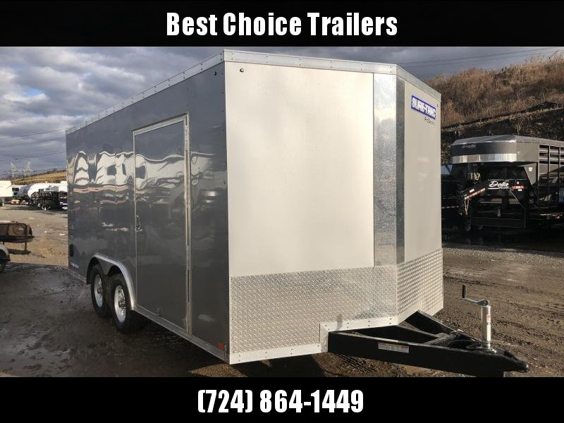 2018 Sure-Trac 8.5x16' Enclosed Cargo Trailer 7000# GVW * SILVER * CLEARANCE
