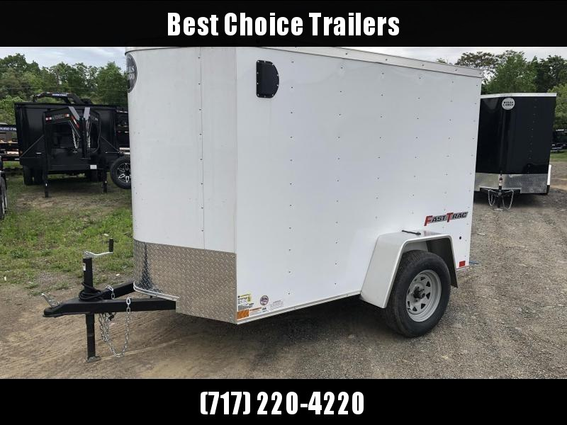 2019 Wells Cargo 5x8' Fastrac Enclosed Cargo Trailer 2990# GVW * WHITE EXTERIOR