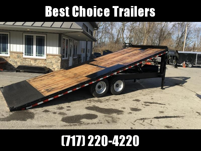 2018 Sure-Trac 102x22' Gooseneck Power Tilt Deckover 15000# GVW * WINCH PLATE * OAK DECK