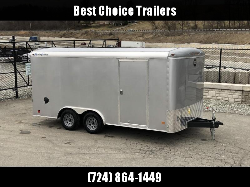 2019 Wells Cargo 8.5x16' Road Force Enclosed Cargo Trailer 7000# GVW * BLACK EXTERIOR * RAMP DOOR