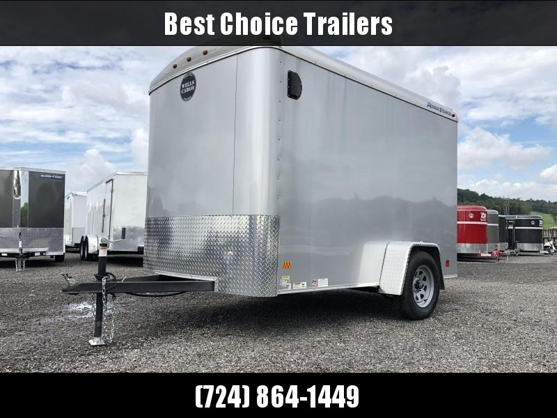 "2019 Wells Cargo 6x10' Road Force Enclosed Cargo Trailer 2990# GVW * SILVER EXTERIOR * ROUND TOP * RAMP DOOR * .030 EXTERIOR * 1PC ALUM ROOF * 6'6"" HEIGHT * TUBE STUDS * 16"" O.C WALLS"
