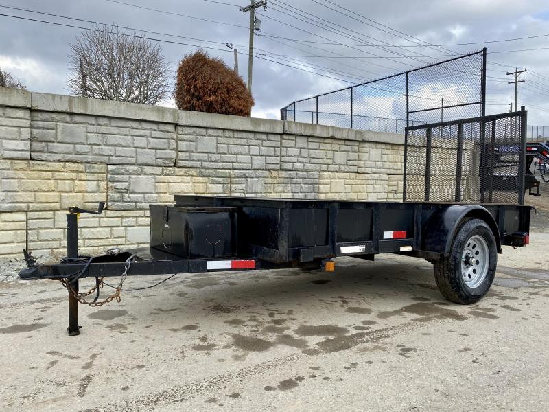 USED Carry-On 5x10' Utility Landscape Trailer 2990# GVW * SOLID SIDES * TOOLBOX
