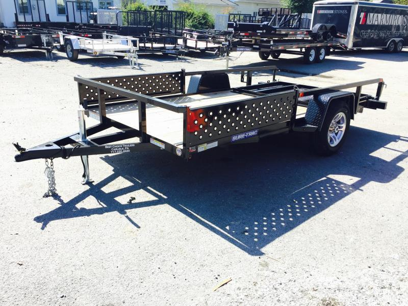 2016 Sure-Trac 7x12' Tube Top ATV Side Ramps Landscape Utility Trailer 2990# GVW ALUMINUM WHEELS