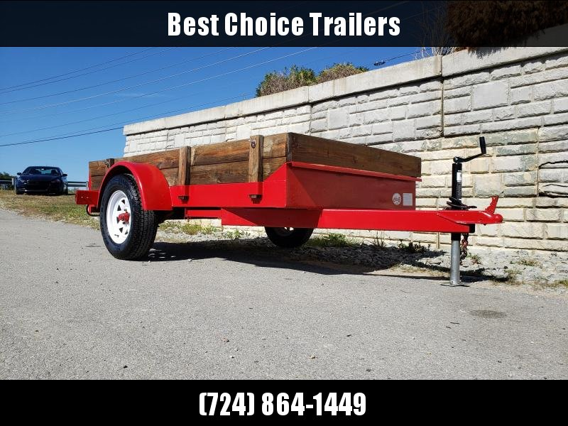 USED 2007 New Alexandria 6x12' Utility Landscape Trailer 2990# * RAMPS * WOOD SIDES