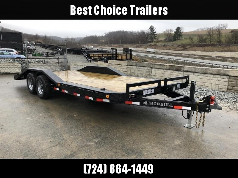 "2018 Iron Bull 102""x20' Wood Deck Car Trailer 9990# GVW * 102"" DECK * DRIVE OVER FENDERS * FREE SET OF ALUMINUM WHEELS"