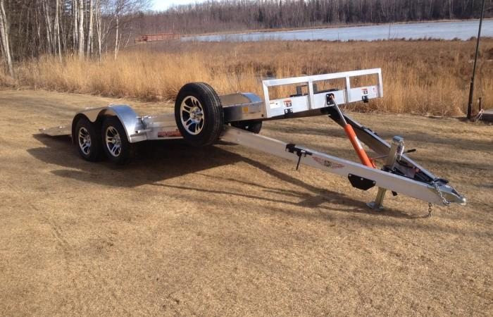 2017 H&H 7x18' 7000# Manual Tilt Aluminum Car Hauler