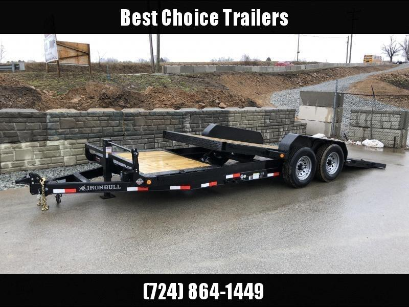 2018 Ironbull 7x16+4 Gravity Tilt Equipment Trailer 14000# TORSION * STOP VALVE
