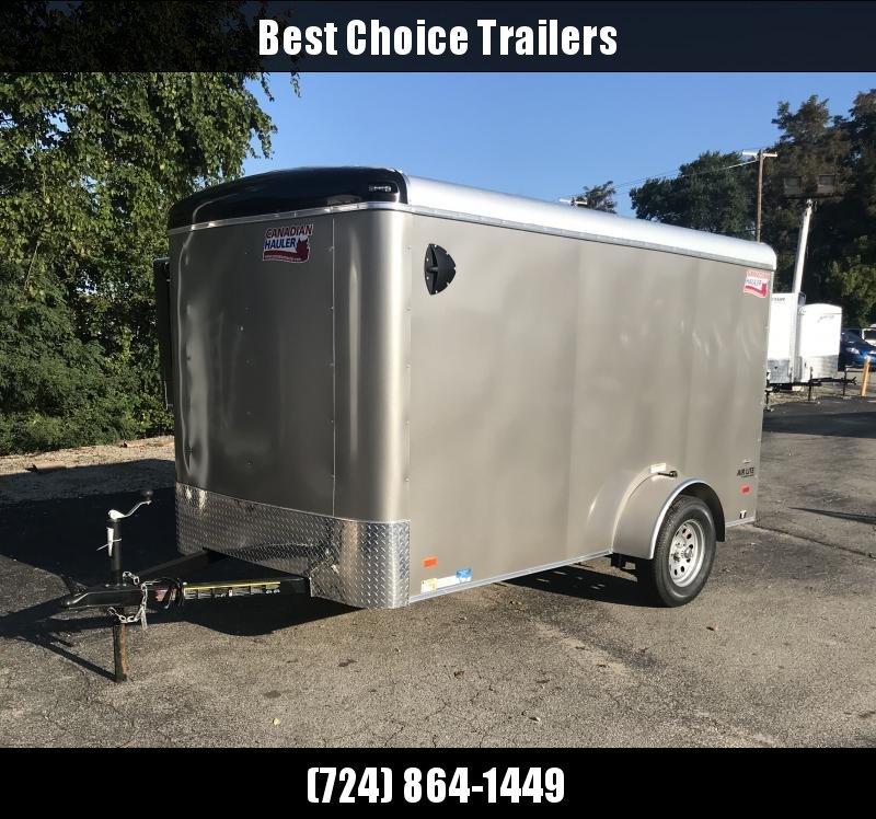 2018 American Hauler 6x12' Enclosed Cargo Trailer 2990# GVW ALC612SA * PEWTER * CLEARANCE* RAMP DOOR * ROUND TOP * SCREWLESS * STABILIZER JACKS * 16