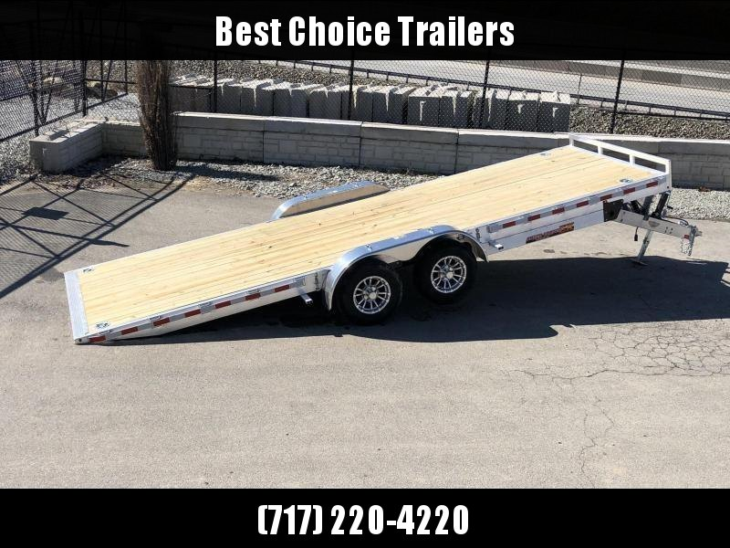 2019 H&H 7x22' Aluminum Power Tilt Equipment Trailer 14000# GVW * TORSION * 4 SWIVEL D-RINGS * 4 EXTRA STAKE POCKETS * TOOLBOX