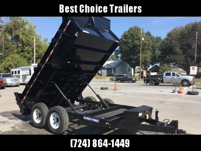 2018 Sure-Trac 7x12' HD LowPro Dump Trailer 12000# GVW * Dual Ram
