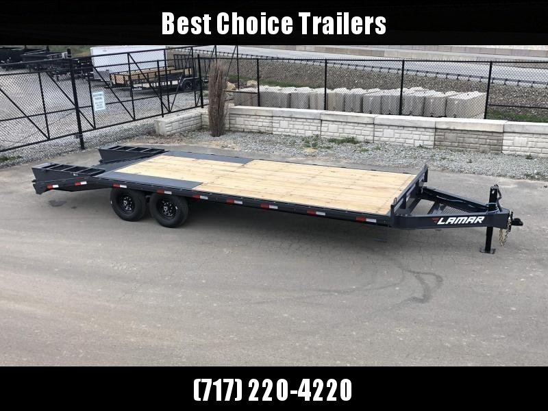 2019 Lamar F8 102x24' Beavertail Deckover Trailer 14000# GVW  * FLIPOVER RAMPS