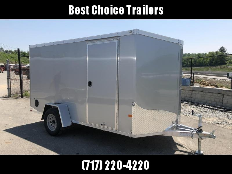 2019 Neo 6x10' NAVF Aluminum Enclosed Cargo Trailer * RAMP DOOR * SILVER * ALUMINUM WHEELS