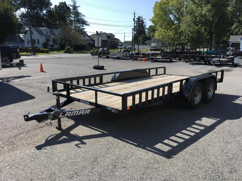 2017 Lamar 7x16' Utility Trailer 7000# - ATV RAMPS