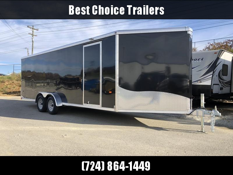 2019 Neo 7x26' Aluminum Enclosed Snowmobile All-Sport Trailer * LOADED MODEL * 4-PLACE * BLACK