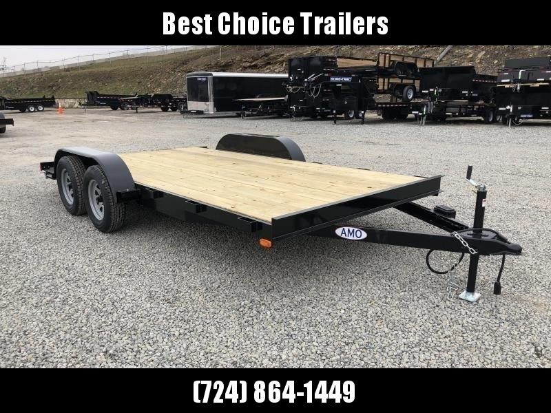 2019 AMO 7x18' Wood Deck Car Trailer 7000# GVW * ALL LED LIGHTS
