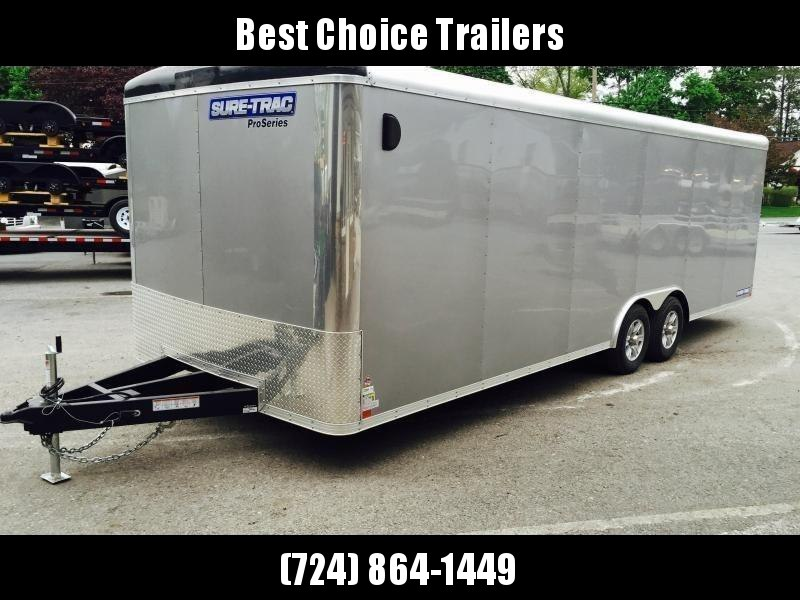 2019 Sure-Trac 8.5x24 Round Top Car Hauler 9900# GVW SILVER