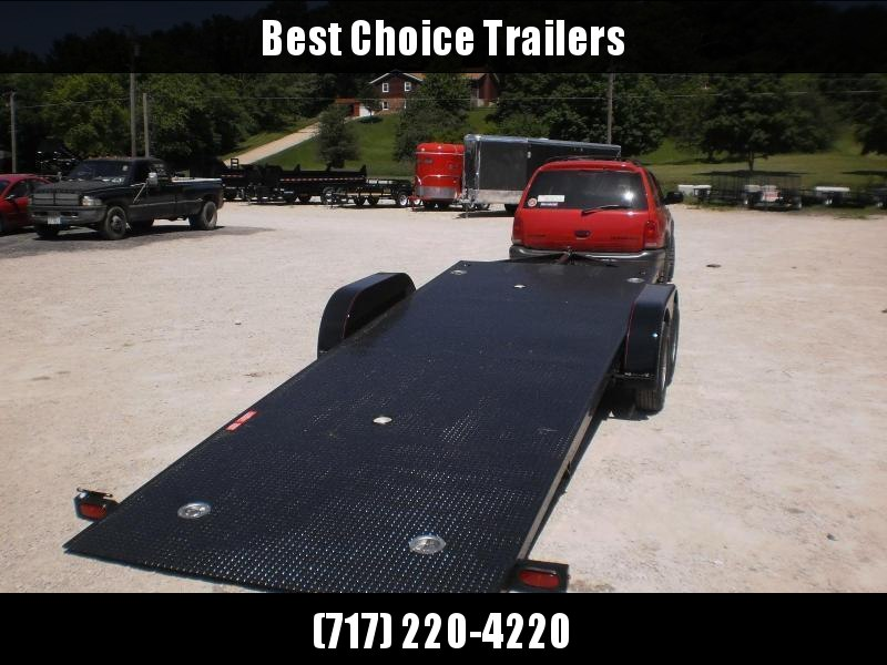"2019 Kwik Load 7x20' 7000# ""Texas Rollback"" Low Angle Car Trailer * CLEARANCE - FREE ALUMINUM WHEELS"