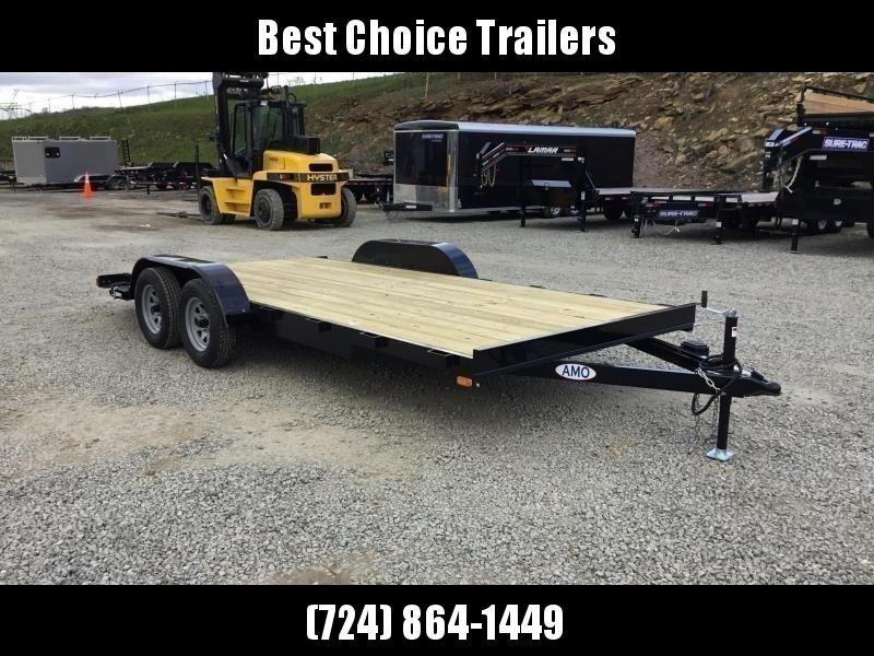 "2018 AMO 7x18' Wood Deck Car Trailer 7000# GVW * LIKE NEW ""USED"""