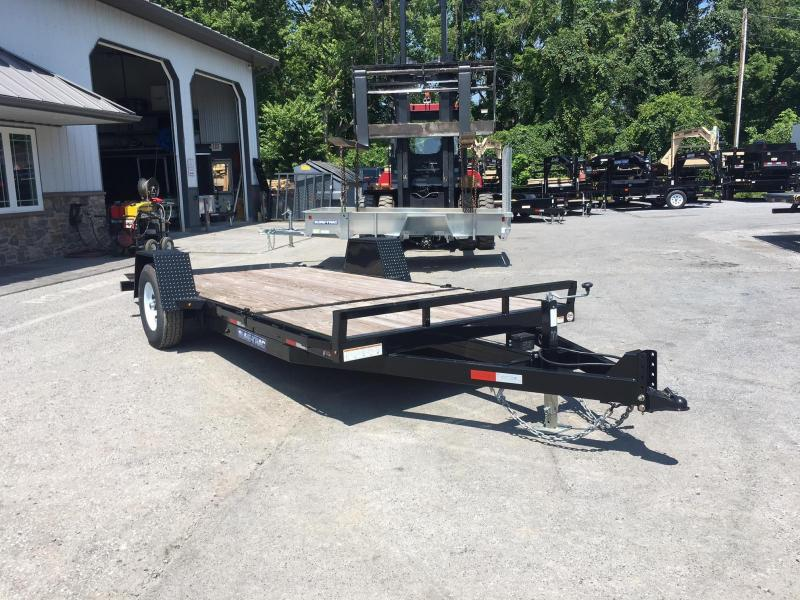 "2018 Sure-Trac 78""x12+4' Tilt Equipment Trailer Scissor Hauler 7800# GVW"