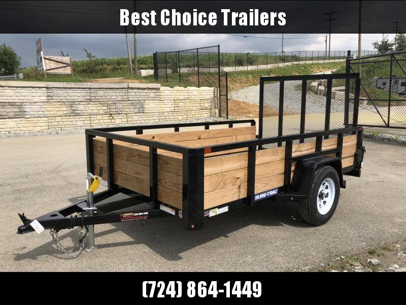 2018 Sure-Trac 6x10' Tube Top 3-Board High Side Utility Trailer 2990# GVW * CLEARANCE - FREE ALUMINUM WHEELS
